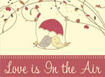 book cover: love is in the air